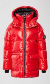 Mackage Down Jacket with Detachable Hood/ Metalic Red