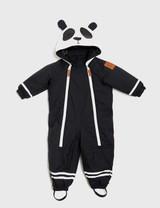 MINI RODINI ALASKA PANDA BABY OVERALL BLACK