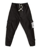nununu patch cargo pants black