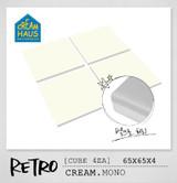 CREAMHAUS RETRO M 65*65 4EA - CREAM MONO