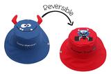 Kid's Reversible Sun Hat- Monster/Car