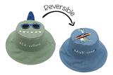 Kid's Reversible Sun Hat- Dino/Surfer