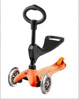 Mini MICRO 3-in-1 Deluxe Kickboard-Orange