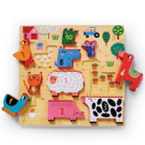 10 pc Stacking Wood Puzzle
