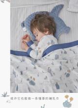 Domiamia-minky dot gauze blanket with light cotton filling 110*140cm