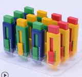 Staedtler Sliding retractable pencil eraser with plastic sleeve, assorted soft pastel