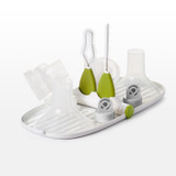 OXO TOT Breast Pump Parts Drying Rack with Detail Brushes-Green