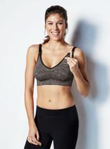 Bravado Body Silk Seamless Yoga Nursing Bra Charcoal Heather