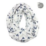 Perlimpinpin Bamboo nursing scarf - triangle print