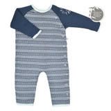 Perlimpinpin Quilted bamboo 1 piece - Navy Sticks