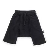 NUNUNU Harem Sweatshorts / Dyed Black