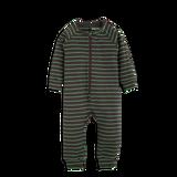 Mini Rodini Stripe Rib Jumpsuit Black