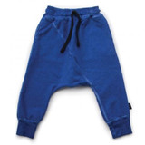 Nununu Diagonal Baggy Pants-Dirty Blue