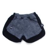 Nununu 1/2&1/2 Gym Shorts -Black&Charcoal
