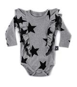 Nununu Ruffled Star Onesie/ Grey
