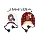 FlapJackKids Winter Hat Moose/Beaver