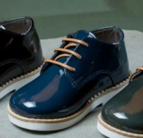 BabyWalker LACE UP PATENT LEATHER DERBY SHOES/ 5184