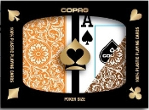 COPAG 1546 Orange & Brown - Super Index - Poker