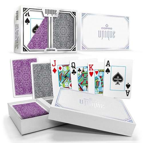 Copag Unique Purple Grey Jumbo Poker