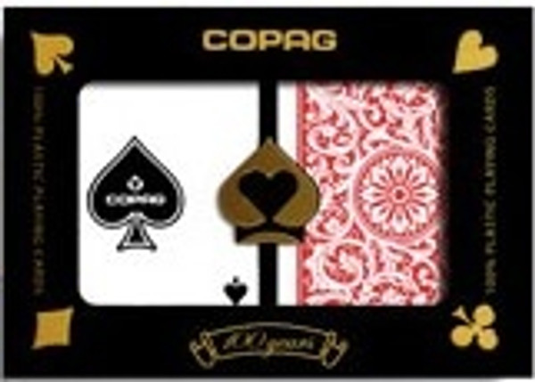 Copag 1546 Red & Blue Playing Cards -12 Sets - Reg. Index - Poker