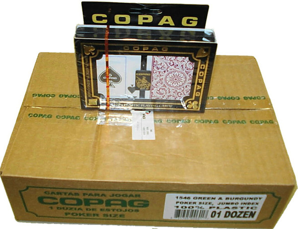 Copag 1546 Burg/Green Playing Cards -12 Sets - Sup. Index - Poker