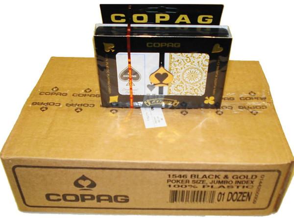 12 setups Copag Black Gold Index Choice Poker