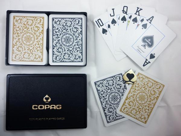 Copag 1546 Black & Gold Super Index Poker