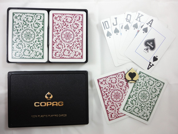 Copag 1546 Burgundy & Green - Super Index - Poker