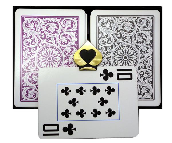 COPAG 1546 Purple & Gray - Super Index - Poker