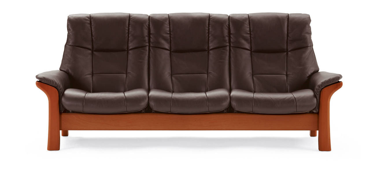 Stressless Sofa - Buckingham High Back 3 Seat - Paloma Special