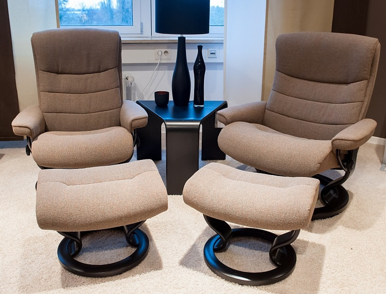 Magnificent Stressless Nordic Recliner And Ottoman Medium Pain Free Nationwide Delivery Machost Co Dining Chair Design Ideas Machostcouk