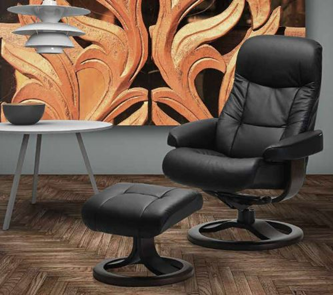 Terrific Large Fjords Muldal Clearance Priced Recliner Ottoman Ibusinesslaw Wood Chair Design Ideas Ibusinesslaworg