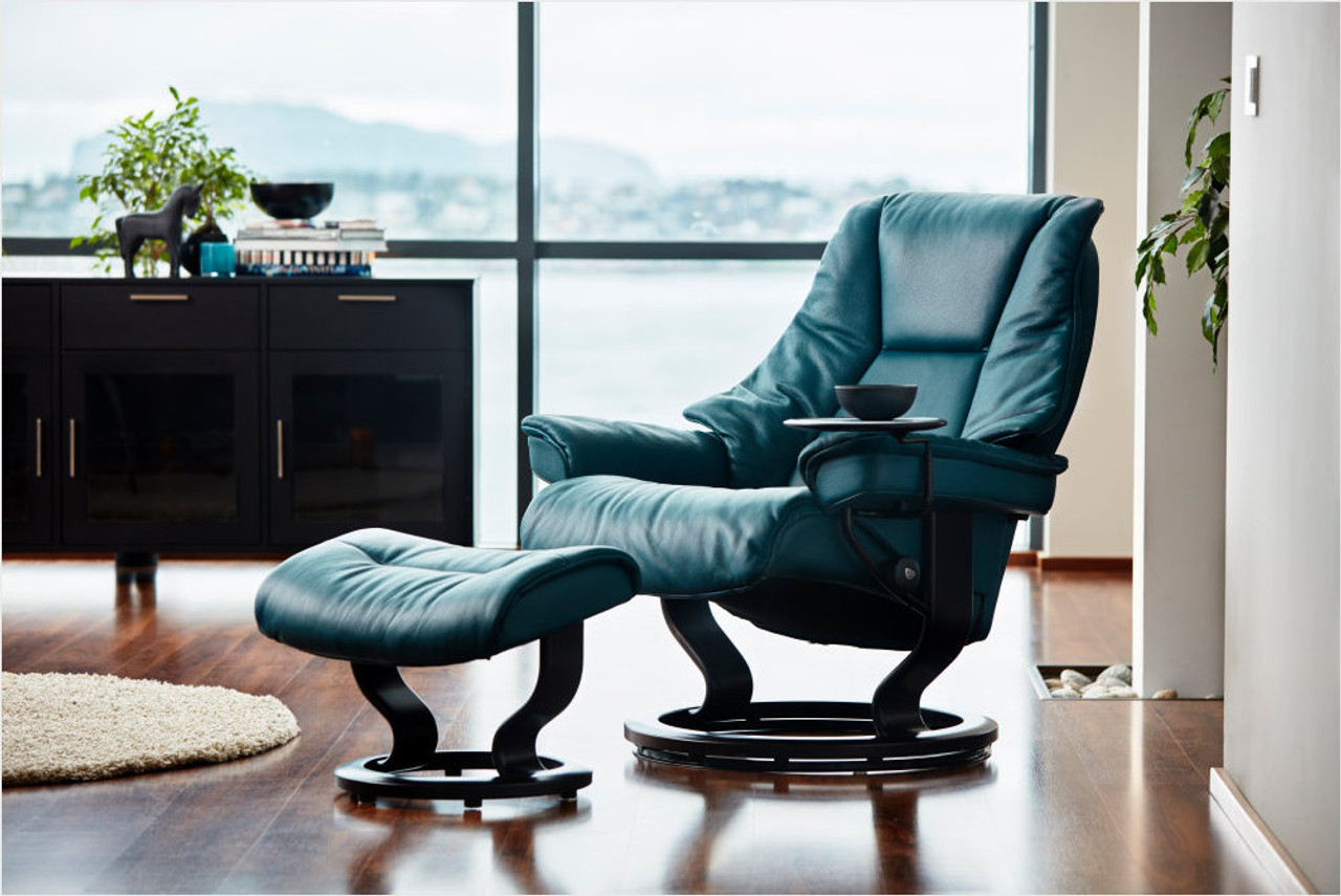 Pleasant Stressless Live Small Recliner With Ottoman Ocoug Best Dining Table And Chair Ideas Images Ocougorg