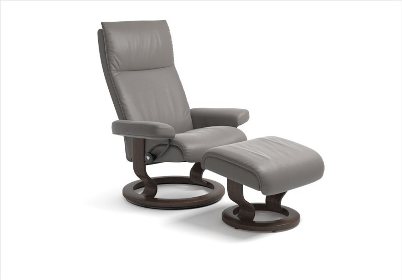 Magnificent Ekornes Aura Medium Chair With Footstool Stress Free Delivery Unemploymentrelief Wooden Chair Designs For Living Room Unemploymentrelieforg