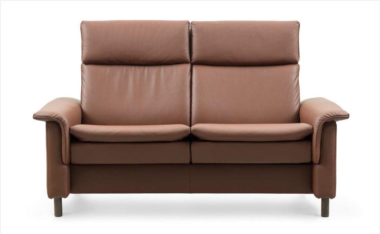 Pleasant Stressless Aurora High Back 2 Seat Sofa Stress Free Shipping Customarchery Wood Chair Design Ideas Customarcherynet