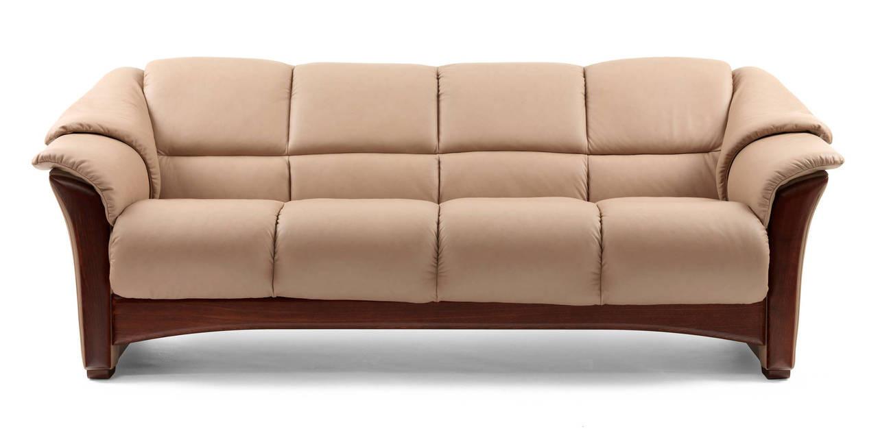 Ekornes Oslo Wood Trim Sofa