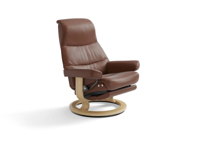 Outstanding Ekornes Stressless View Recliner Signature Series Or Legcomfort Powered Ottoman Machost Co Dining Chair Design Ideas Machostcouk