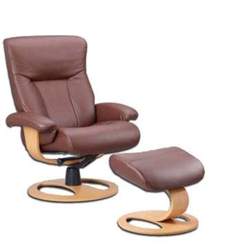 Scandic Large Recliner Chair And Ottoman DR Base