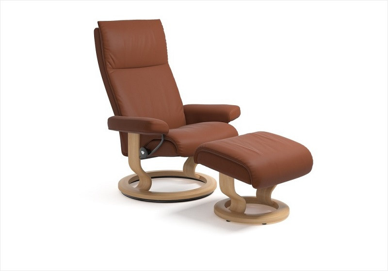 Ekornes Aura Medium Chair with Footstool   Stress Free Delivery