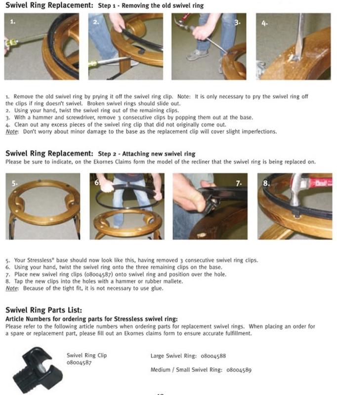 Awe Inspiring Ekornes Stressless Recliner Swivel Ring With Clips Theyellowbook Wood Chair Design Ideas Theyellowbookinfo