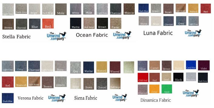 Stressless Fabric colors palette