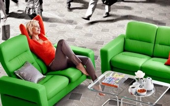 Relaxing in a Ekornes Stressless Sofa Set image