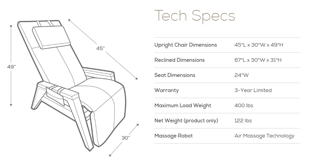 Gravis ZG Chair Dimensions