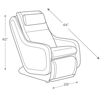Human Touch ZeroG 5.0 Massage Chair- Dimensions image