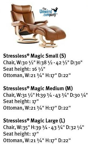Measurement Card of Magic Recliners