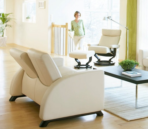 Stressless Arion shown with Orion Recliner