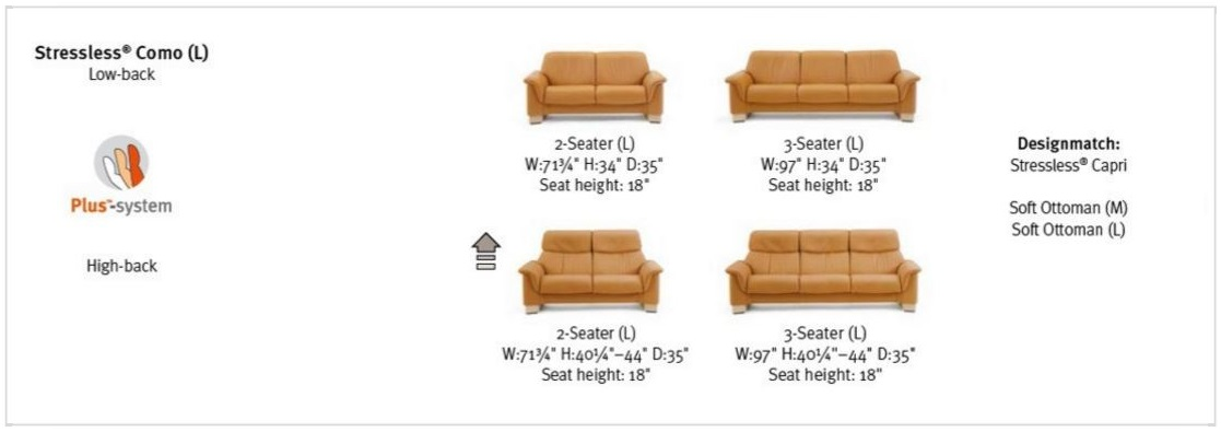 Stressless Como Sofa Dimensions- Choose Unwind.
