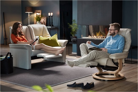 Stressless Lux Sofa at Unwind- Get the best prices and best Customer Service.