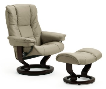Stressless Mayfair Large Recliner and Ottoman