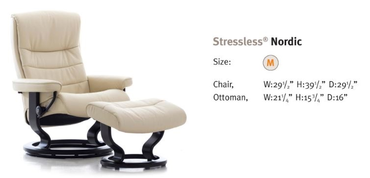 Nordic- New Stressless Model- Medium Size